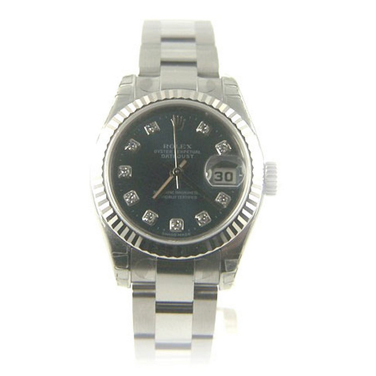 pre owned rolex oyster perpetual lady datejust. Black Bedroom Furniture Sets. Home Design Ideas