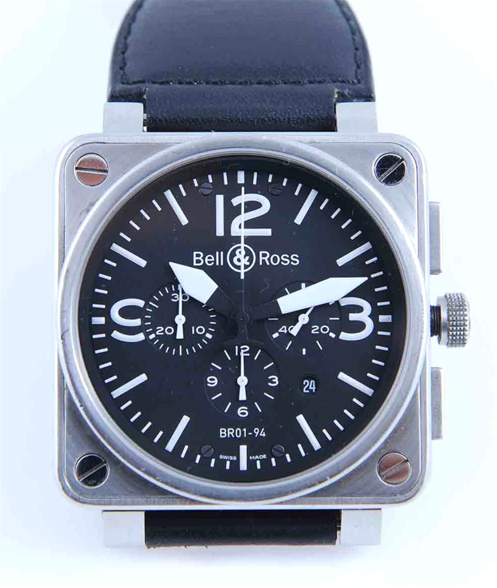 Bell & Ross 46mm Chronograph Model: BR01-94-S-01429