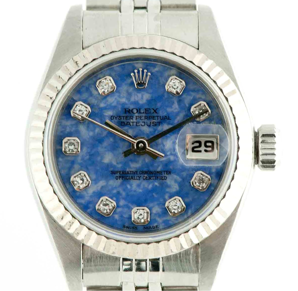 Rolex Lady Datejust with Factory Sodalite Diamond Dial