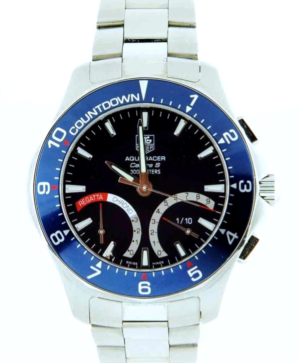 Tag Heuer Aquaracer Caliber S Regatta Chronograph Model No: CAF7110.BA0803