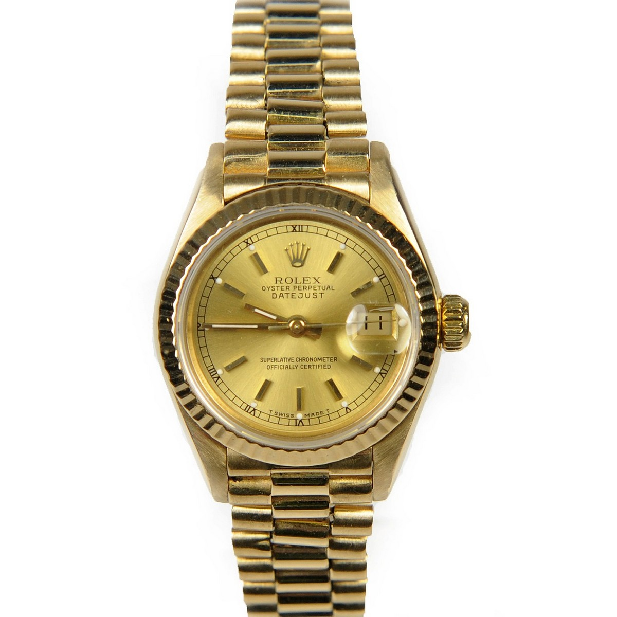 how to clean scratches from gold rolex