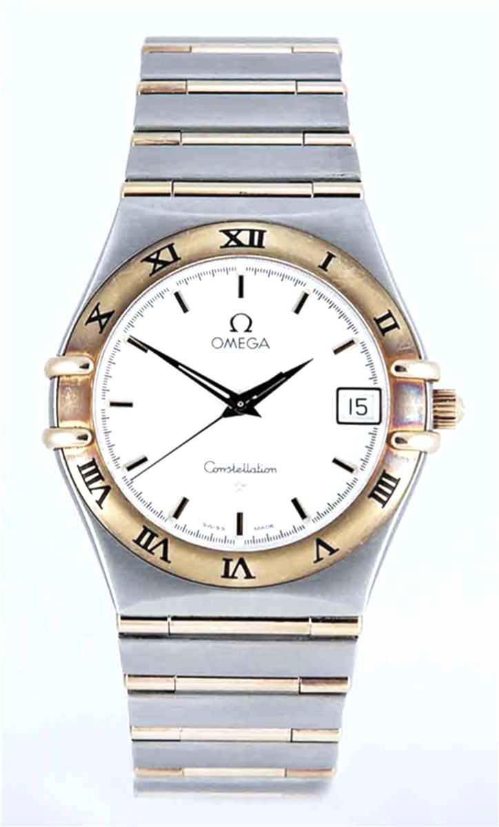 35mm Omega Stainless Steel & 18kt gold Omega Quartz Constellation Model No: 1212.30.00