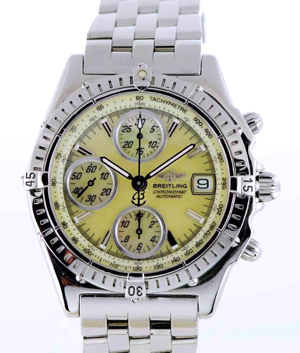 Breitling Steel Chronomat Chrono Champagne Mother-of-Pearl Ref: A13050.1