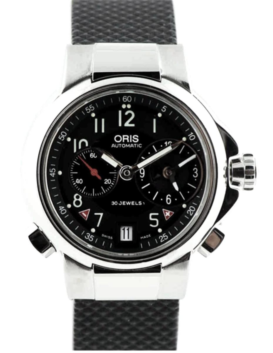 Oris Dual Time Zone Model No: 690-7495-40-64