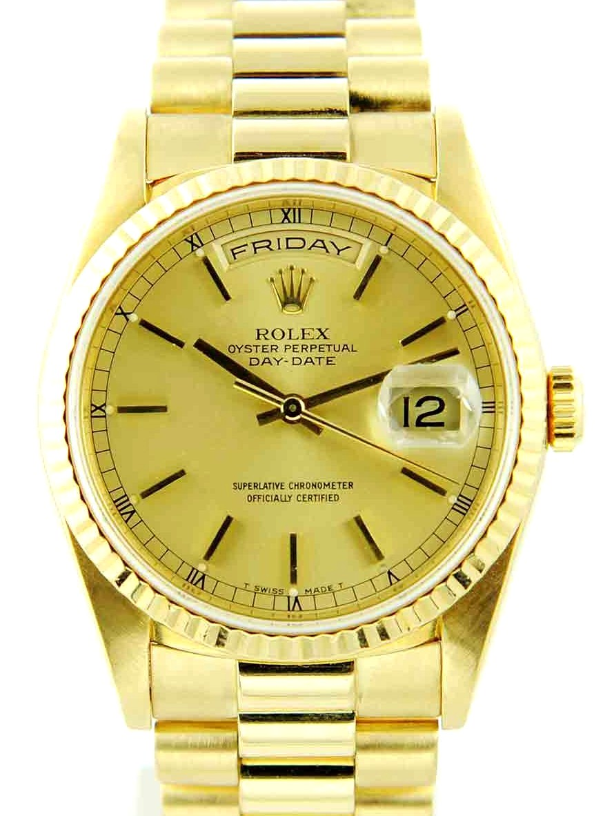 Rolex Day-Date watch with Presidential style Bracelet Ref: 18238