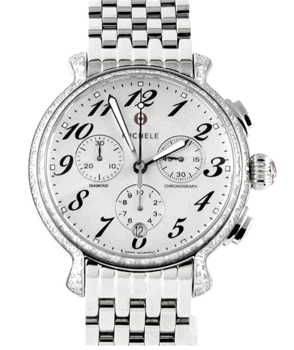 Michele Stainless Steel Extreme Fluette Diamond Women's Watch Model No: MW24A01H7966
