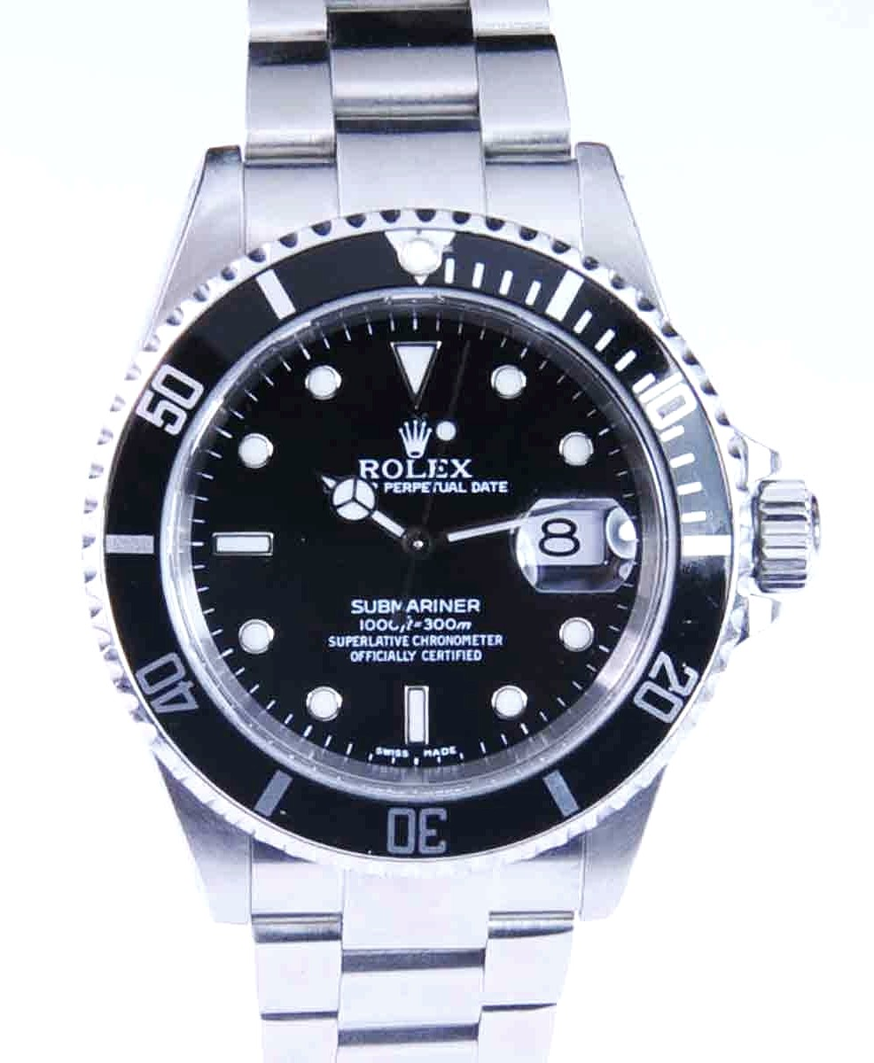 40mm Rolex Submariner Stainless Steel Model No: 16610