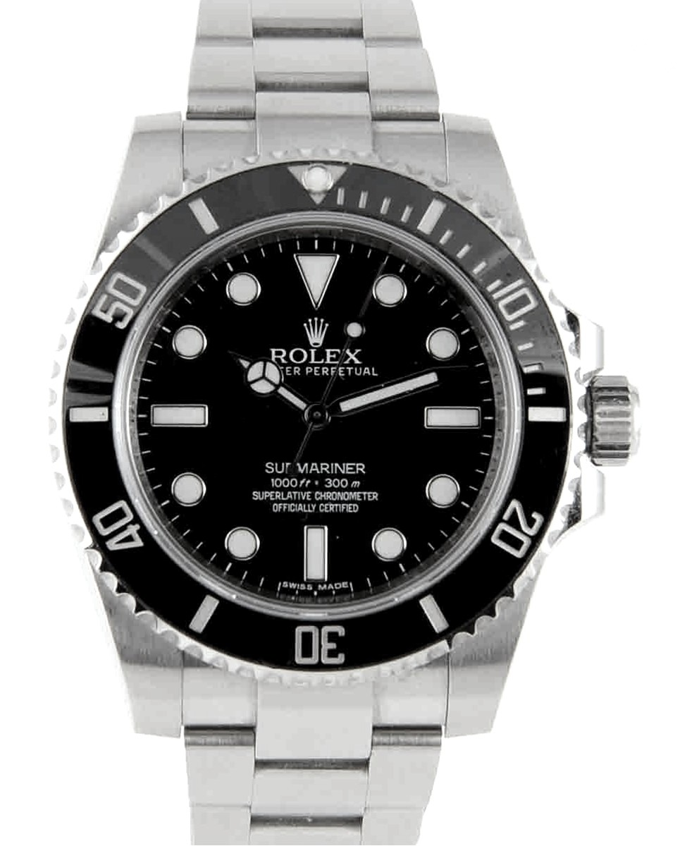 Rolex Submariner No-Date Black Ceramic Model No: 114060