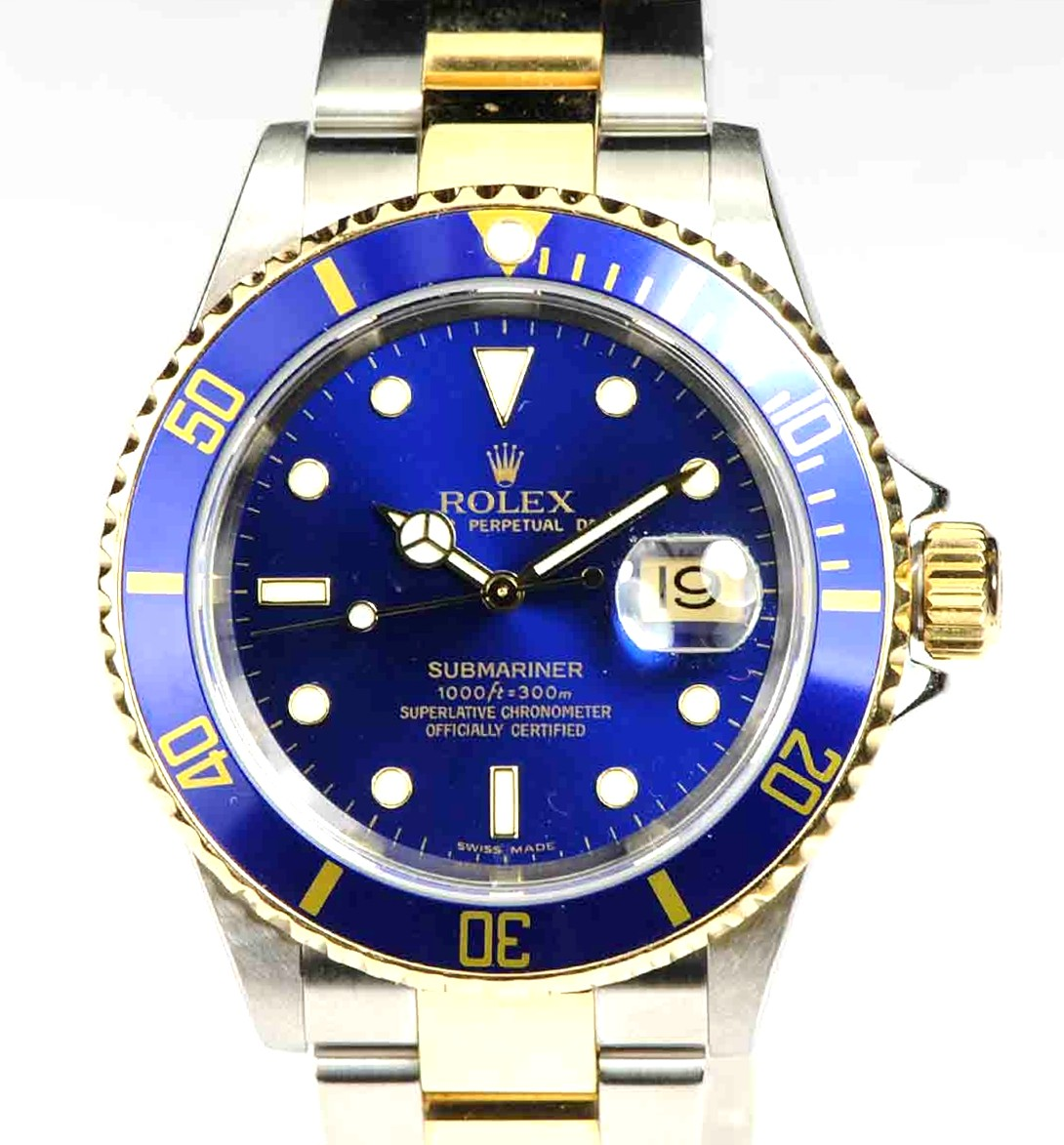 Rolex Submariner 40mm Stainless Steel & 18kt Gold Model No: 16613T