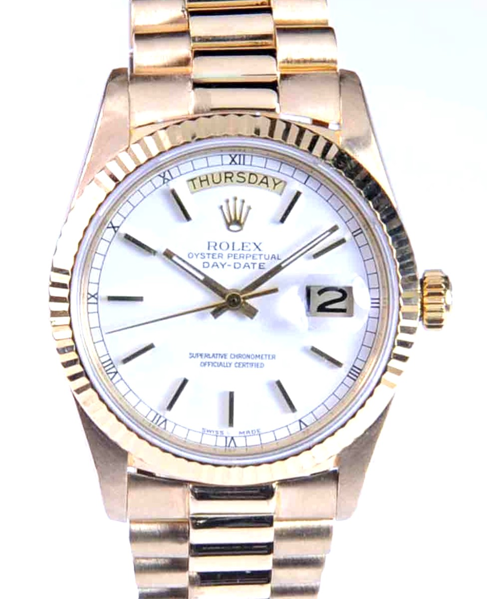 Rolex Day-Date watch with Presidential style Bracelet Ref: 18038