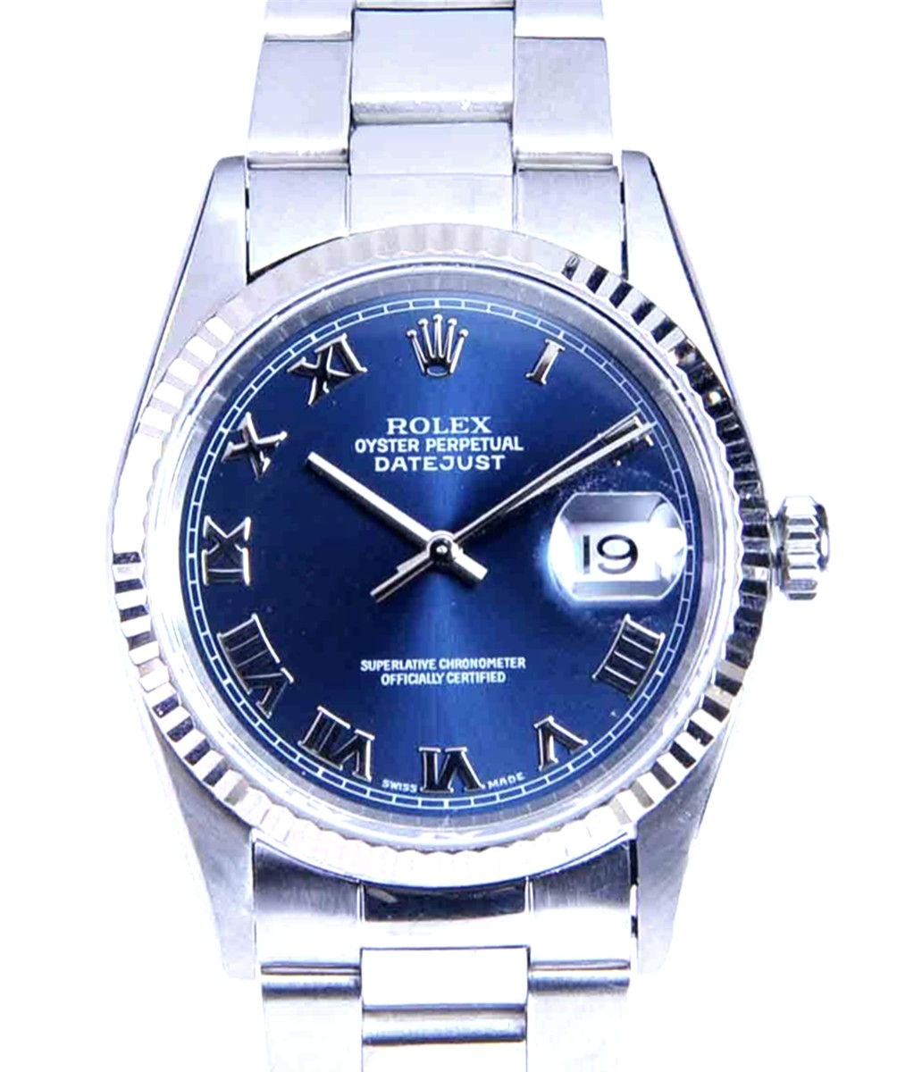 Rolex Men's Steel DateJust with Oyster Bracelet Ref: 16234