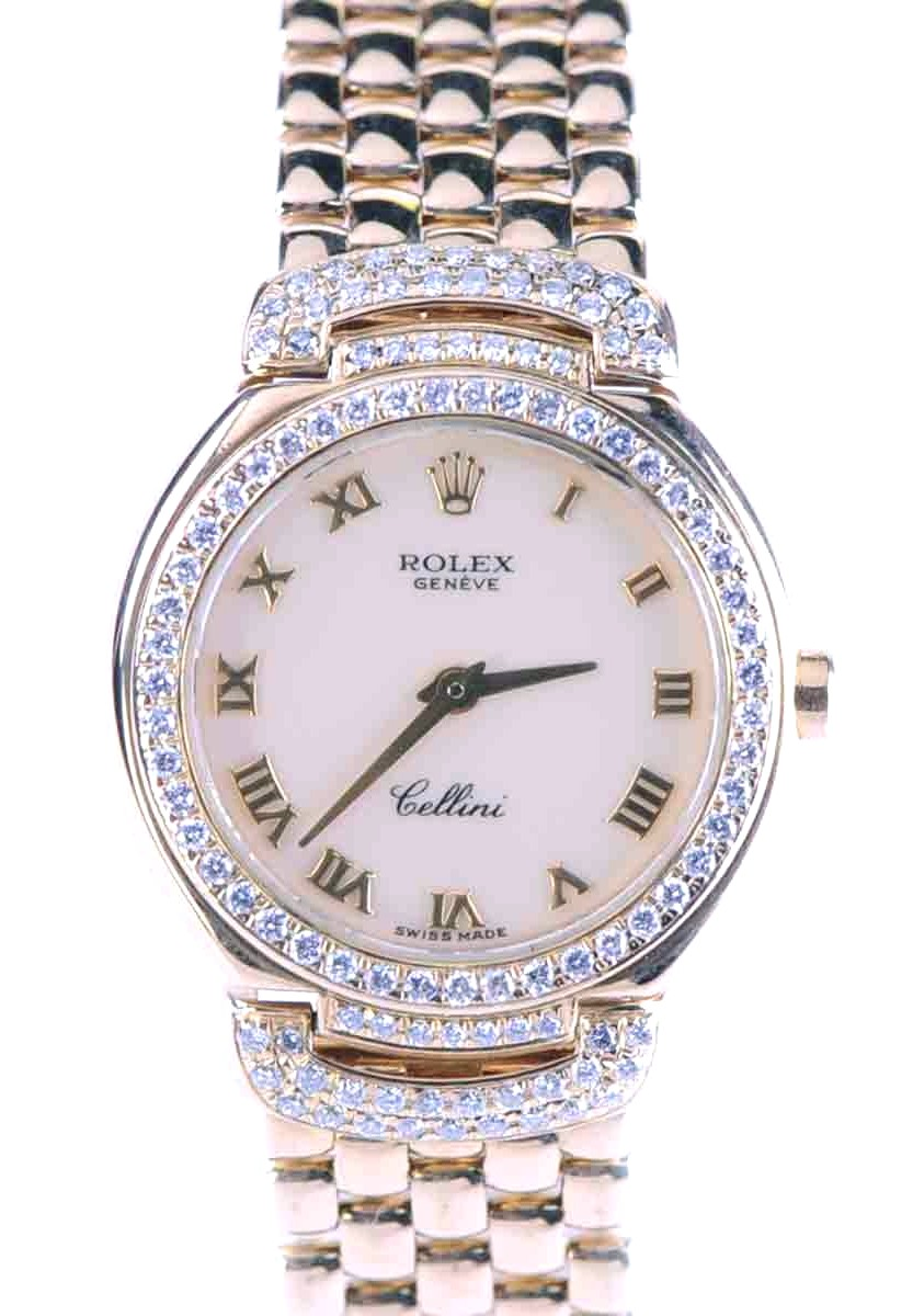 Rolex 18kt gold Cellini Cellissima with Factory Diamond Bezel & Case Lugs