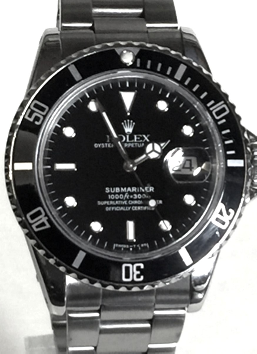 Rolex 40mm Submariner Stainless Steel Model No: 16800