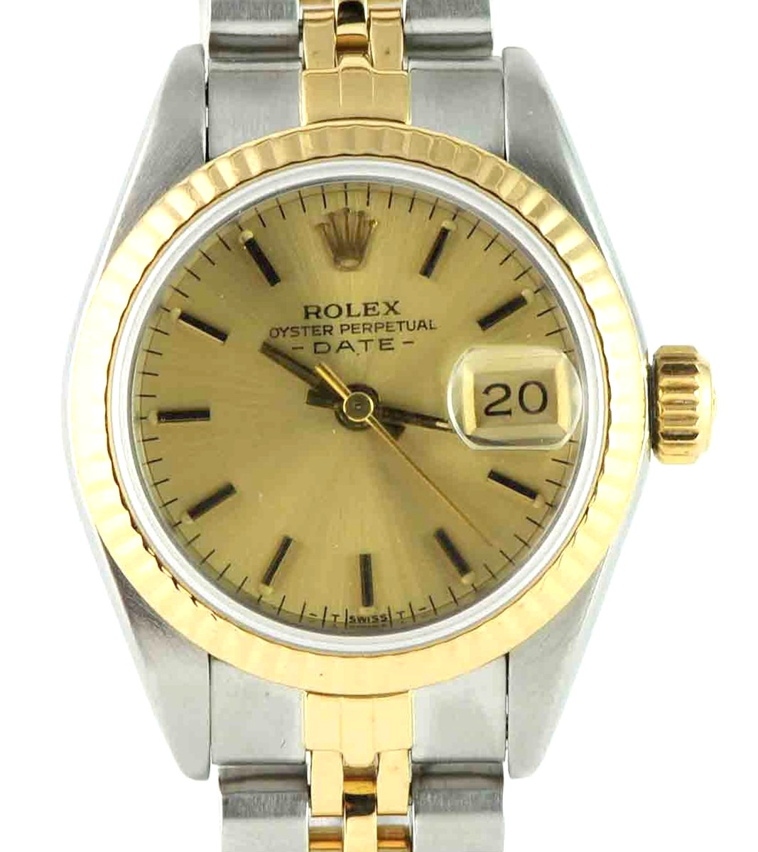 Rolex 26mm Stainless Steel & 18kt gold Lady Date watch Model #69173