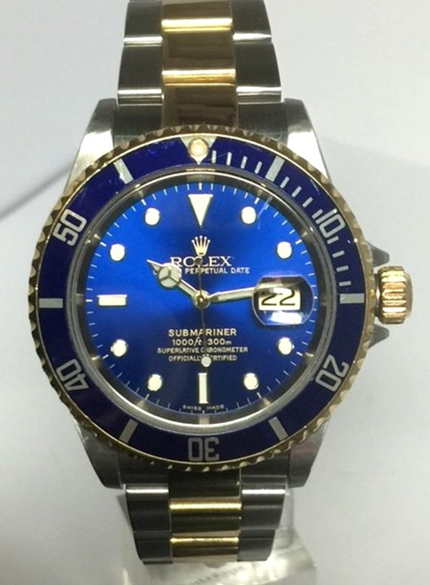 Rolex Submariner 40mm Stainless Steel & 18kt Gold Model No: 11613