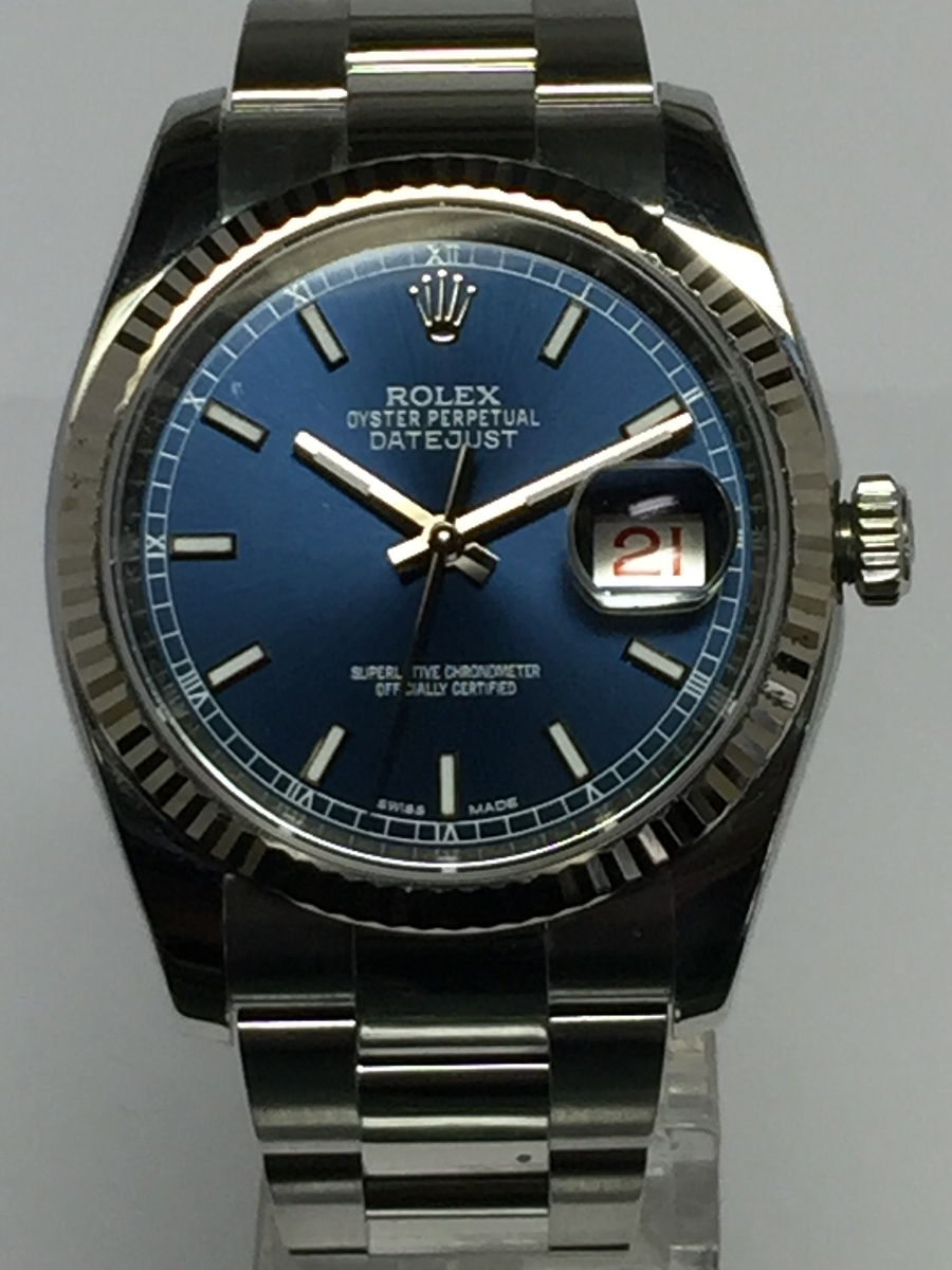 Rolex Men's Steel DateJust with Heavy Style Oyster Bracelet Ref: 116234