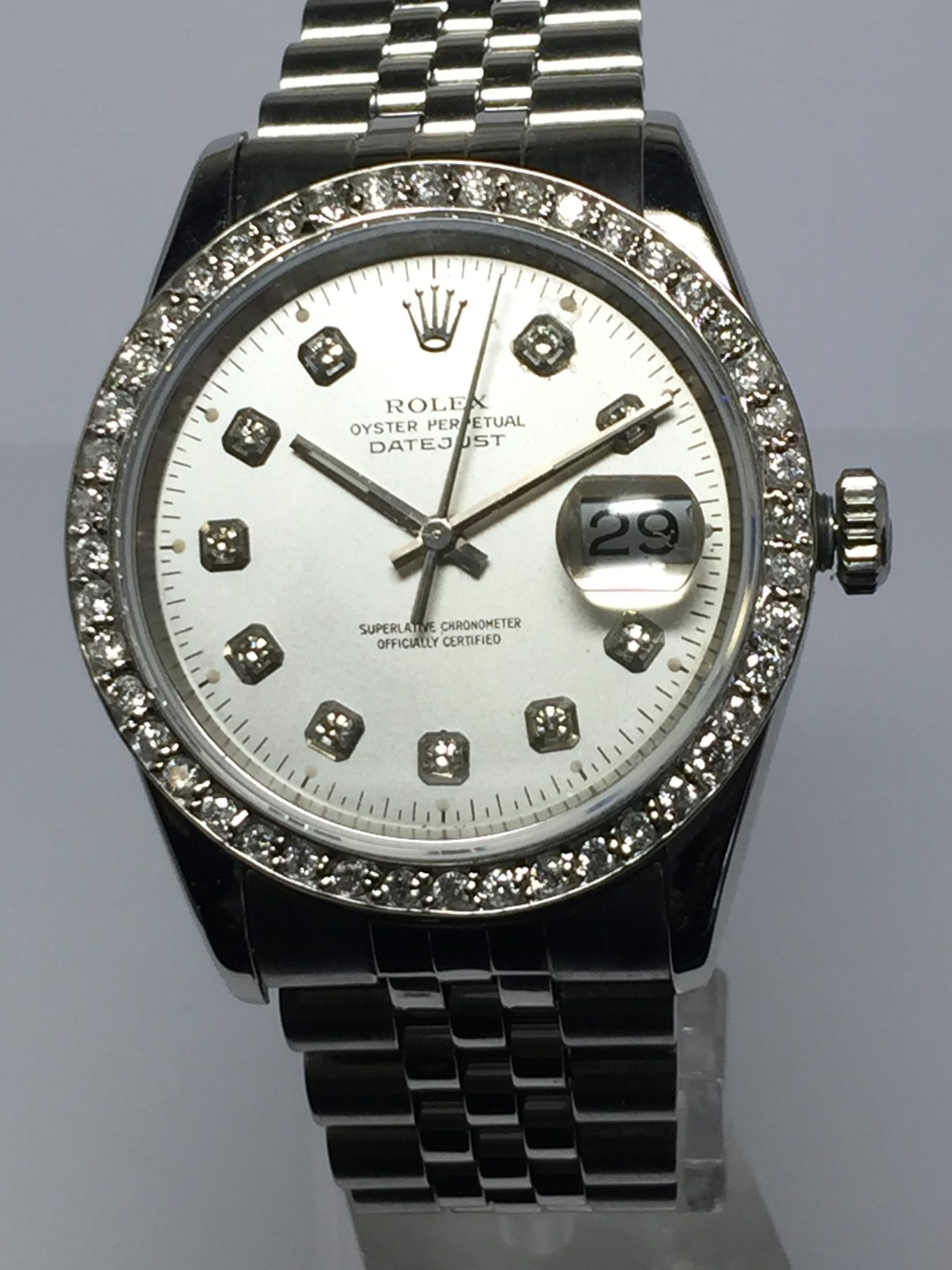 Men's 36mm Stainless Steel Rolex DateJust Model No: 16220