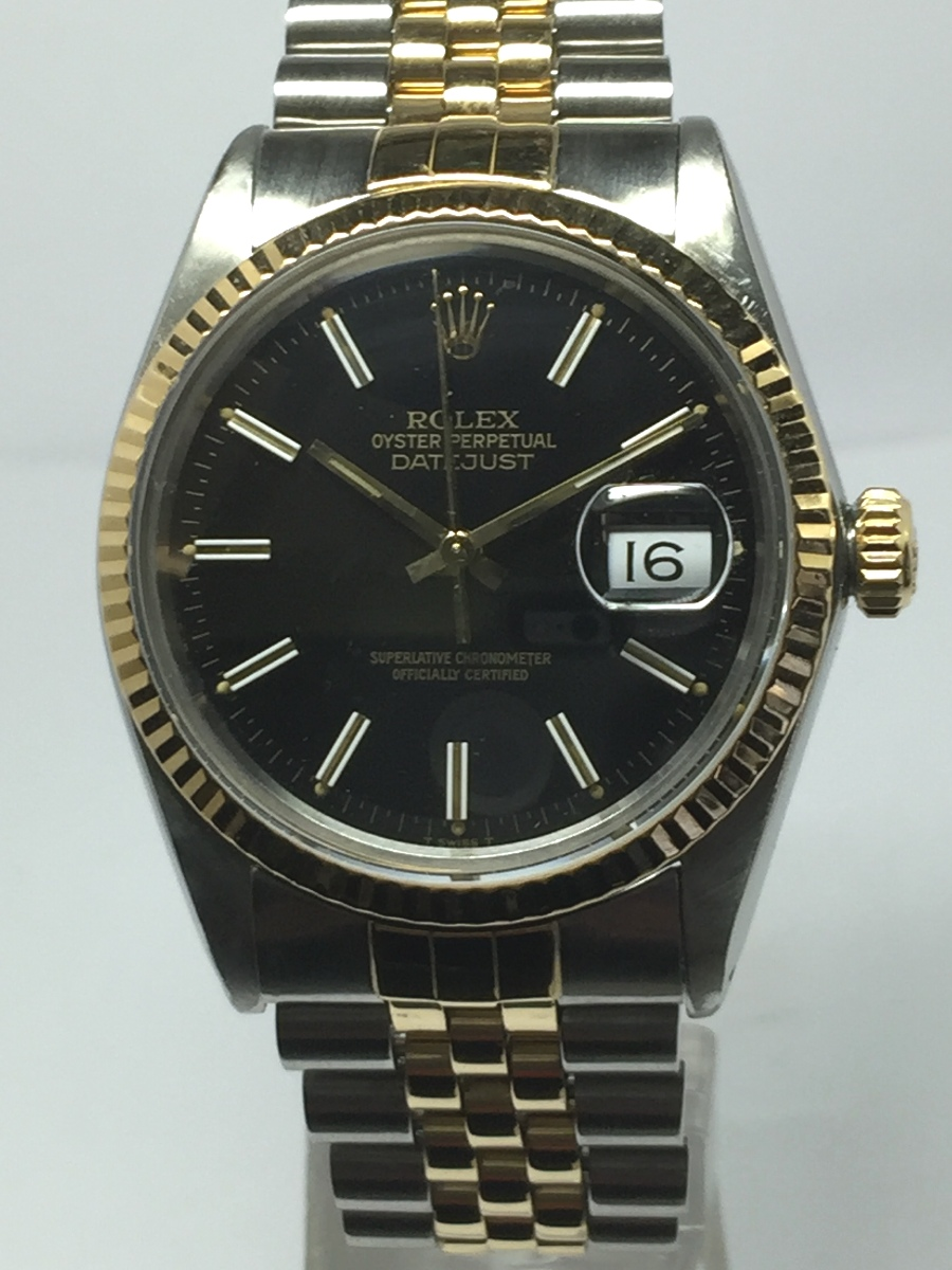 Men's 36mm 18K Stainless Steel Rolex DateJust Model No: 16013