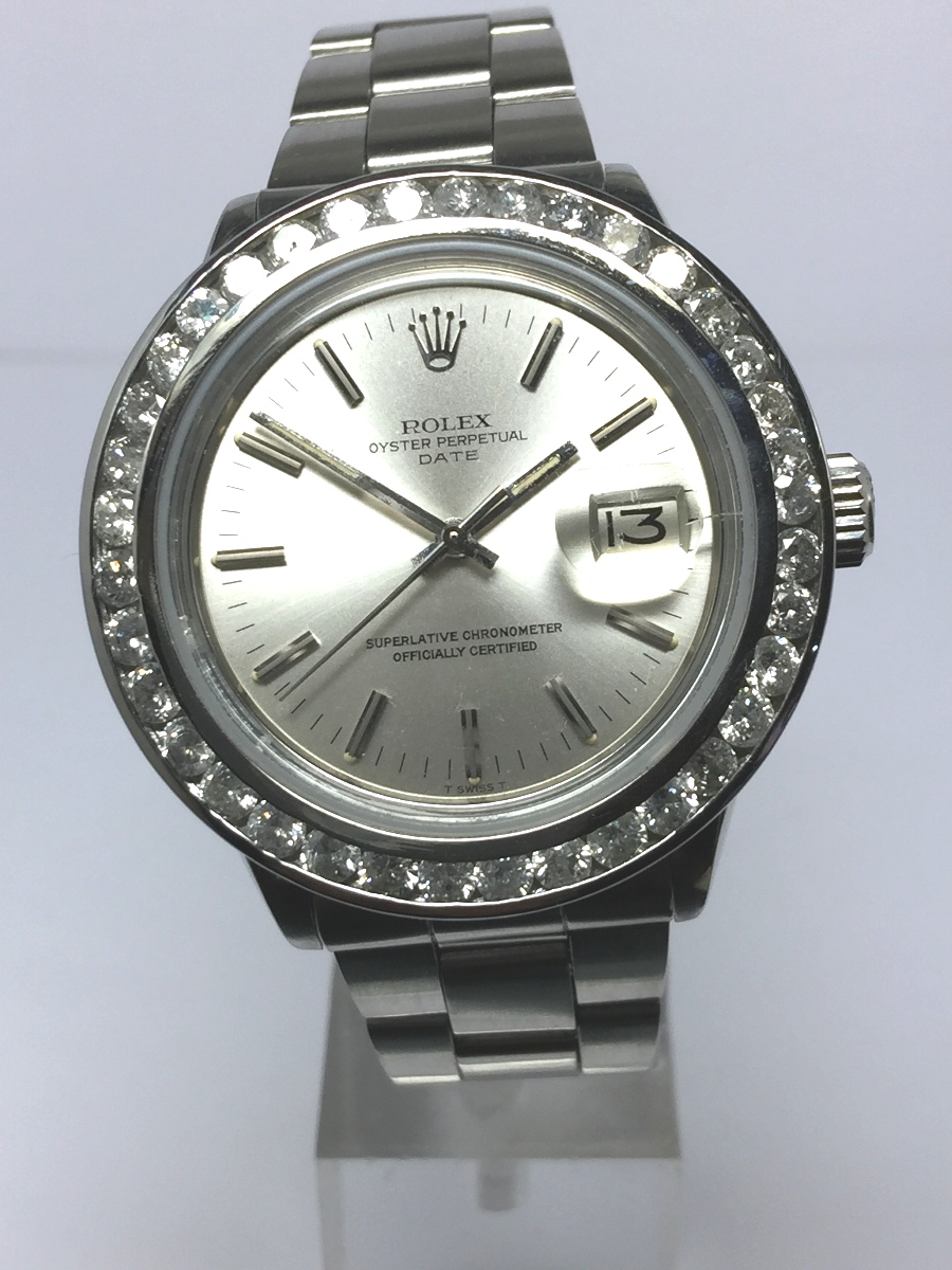 Men's 34mm Stainless Steel Rolex Date Model No: 1501