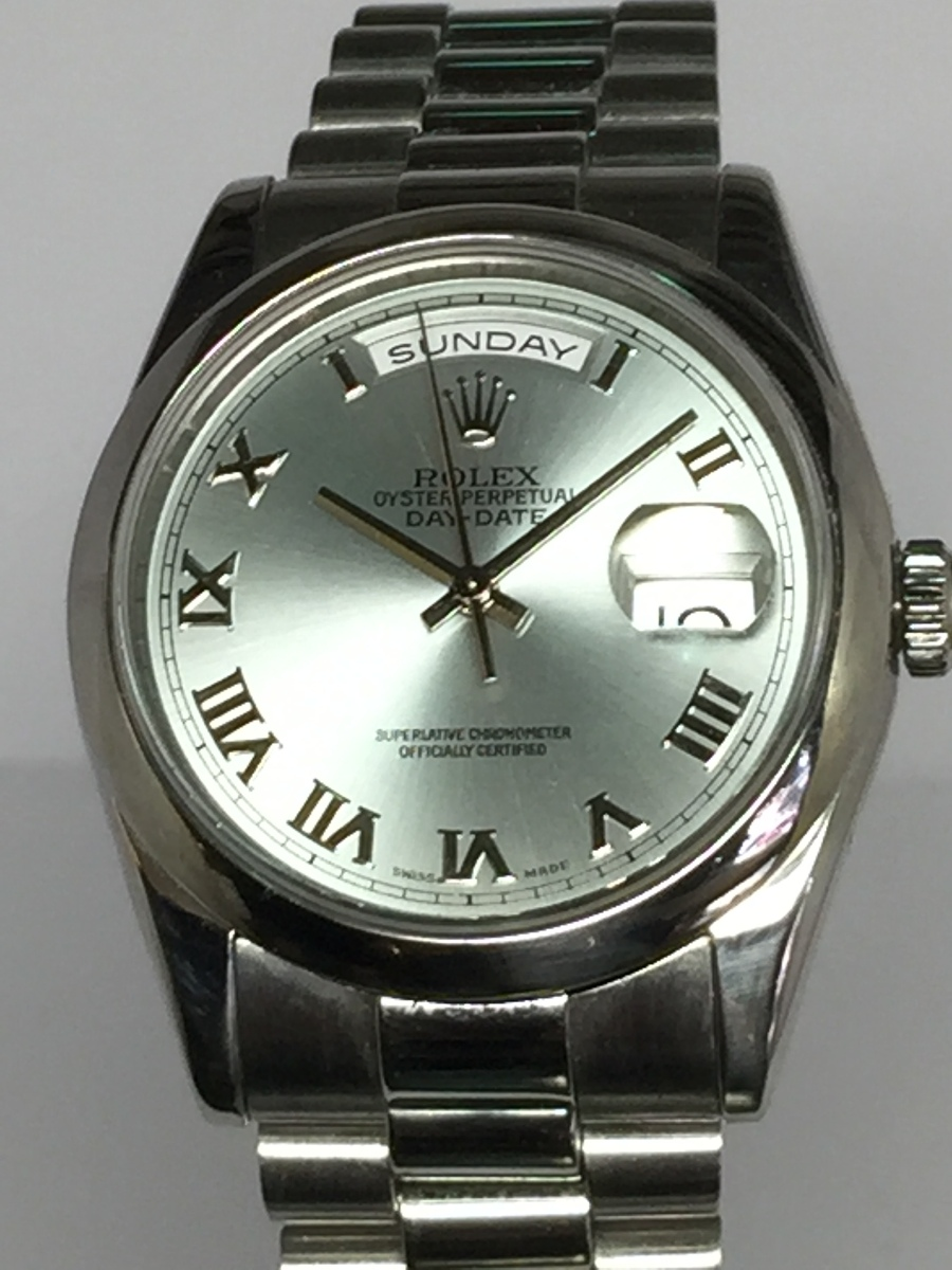 Rolex 36mm Platinum Day-Date Presidential  Ref: 118206