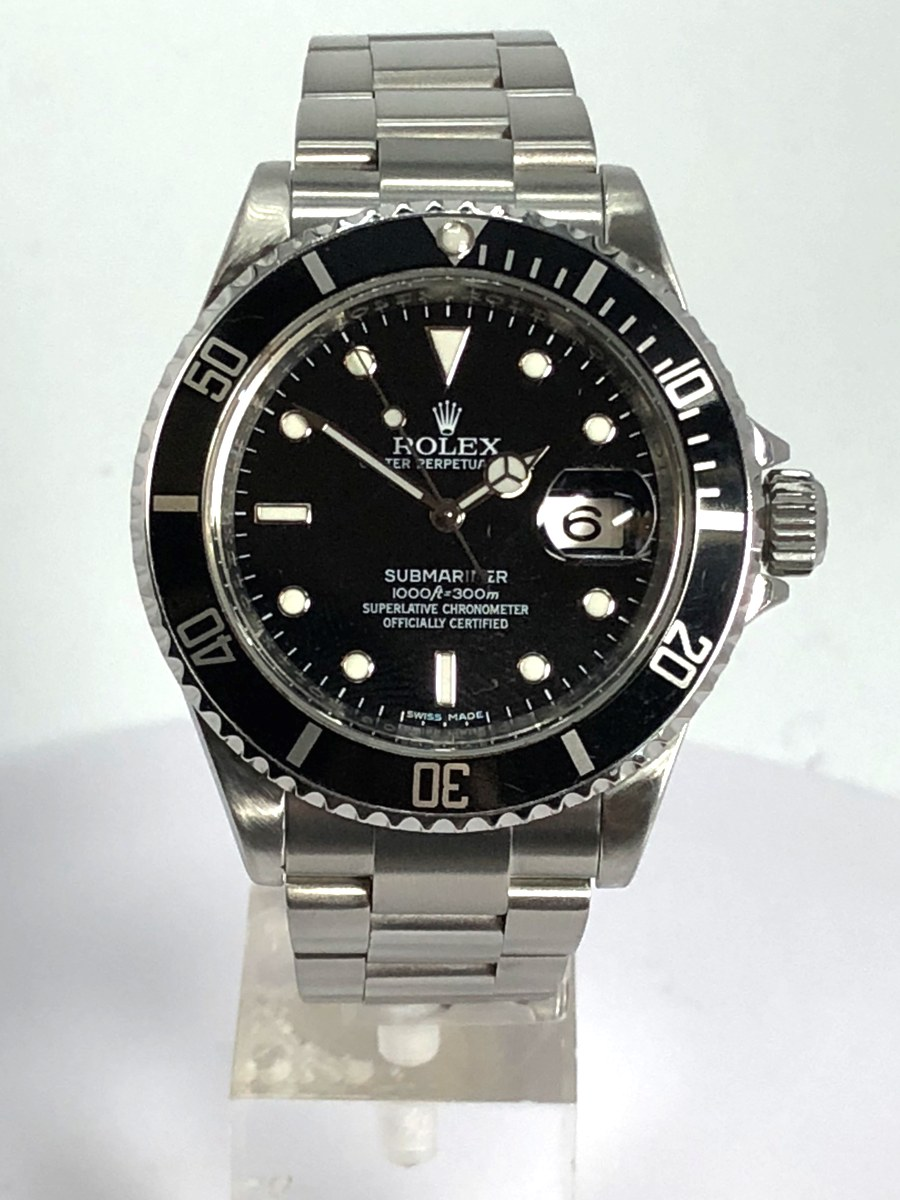 40mm Rolex Submariner Stainless Steel Model No: 16610-T